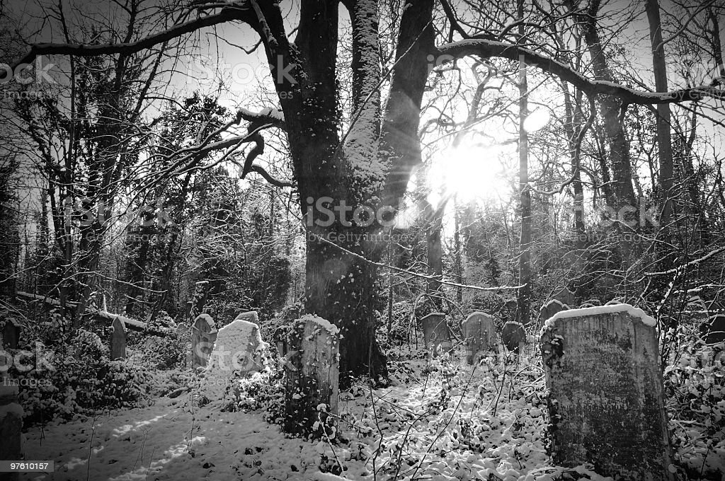 Scary cemetery royalty-free stock photo