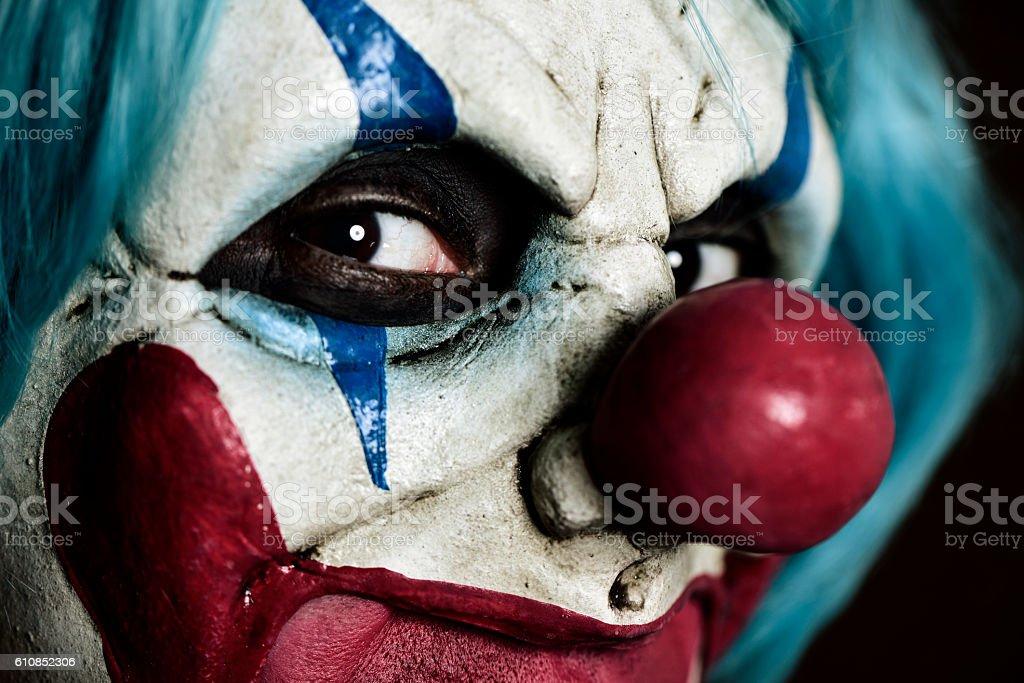scary evil clown stock photo