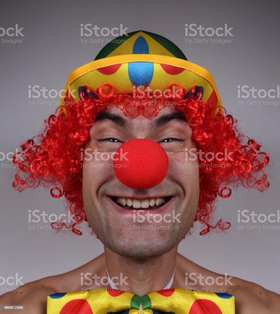 Scary evil clown foto de stock royalty-free