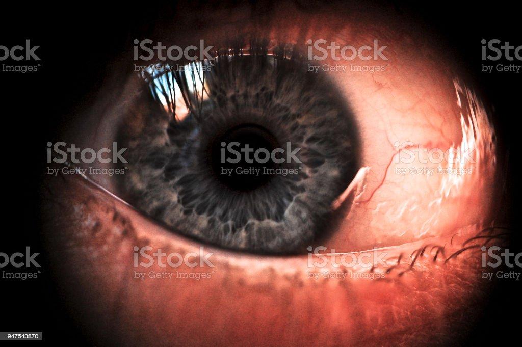 Scary eye stock photo