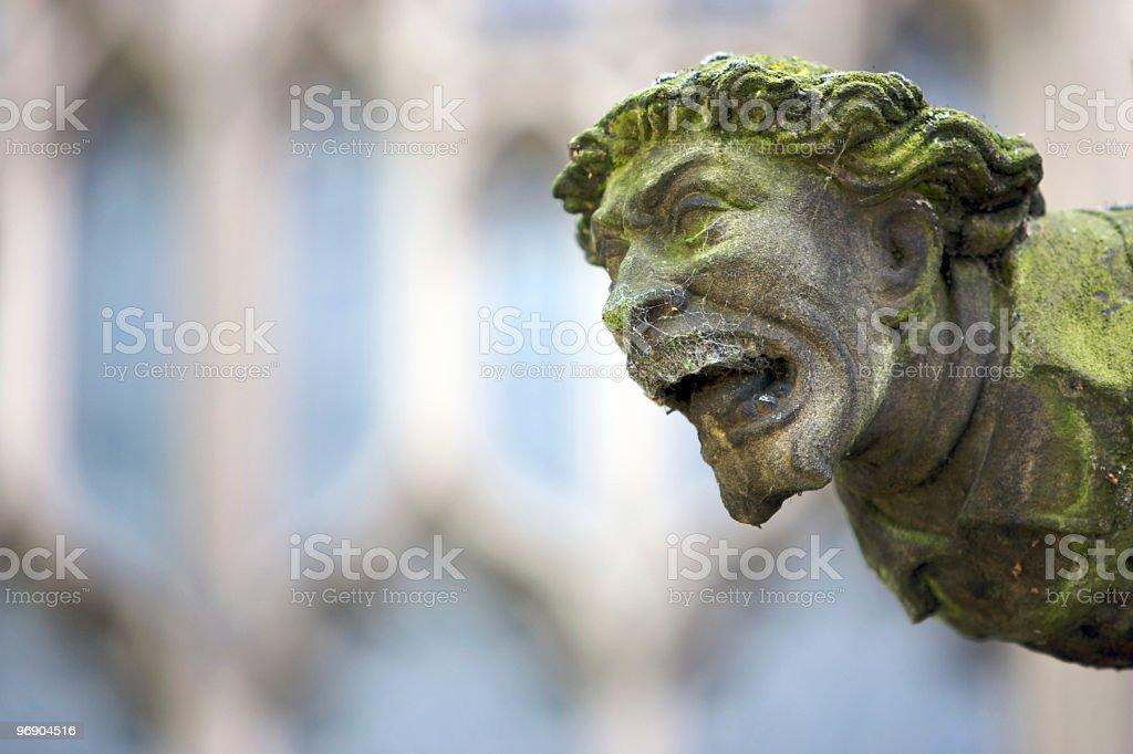 Scary Green Gargoyle royalty-free stock photo