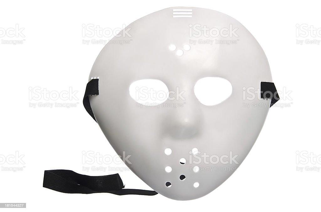 Scary Halloween Hockey Mask stock photo