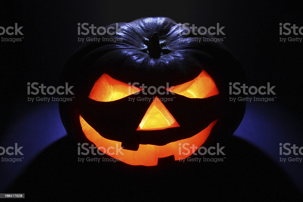 Scary Halloween Lantern royalty-free stock photo