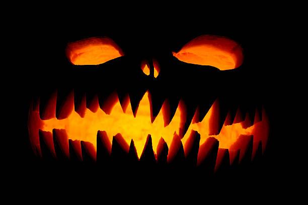 scary halloween abóboras - lanterna de halloween - fotografias e filmes do acervo