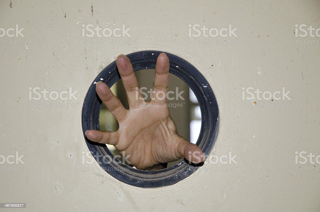 Scary hand stock photo