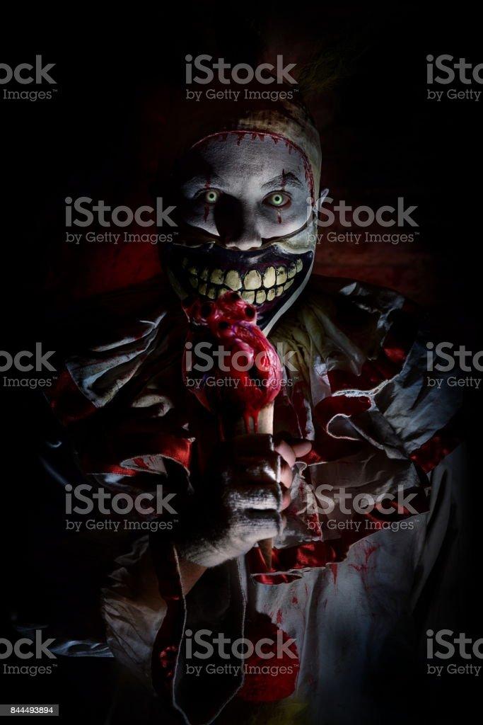 scary horror clown stock photo