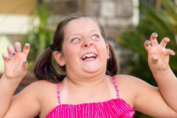 Scary Little Girl stock photo