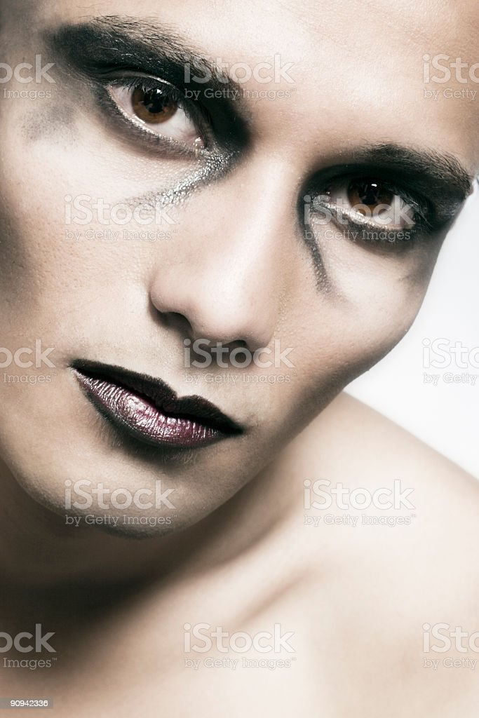 Scary look stock photo