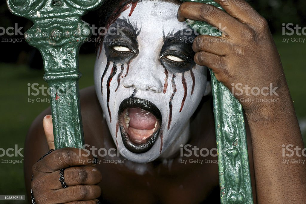 scary looking woman royalty-free stock photo