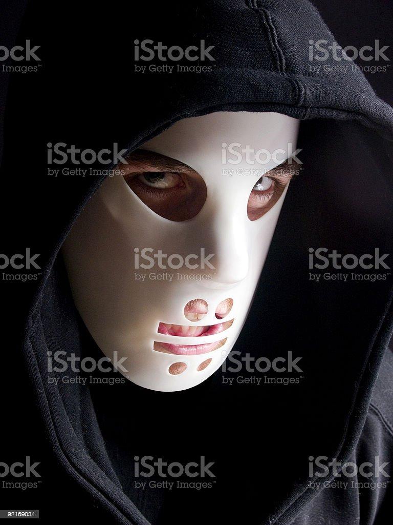 Scary Man in Hockey Mask stock photo