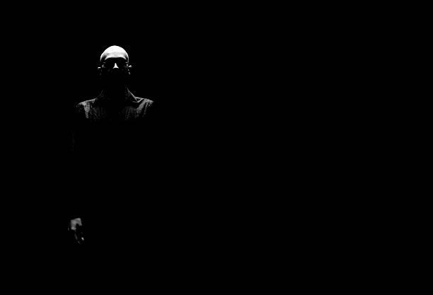 Scary Man stock photo