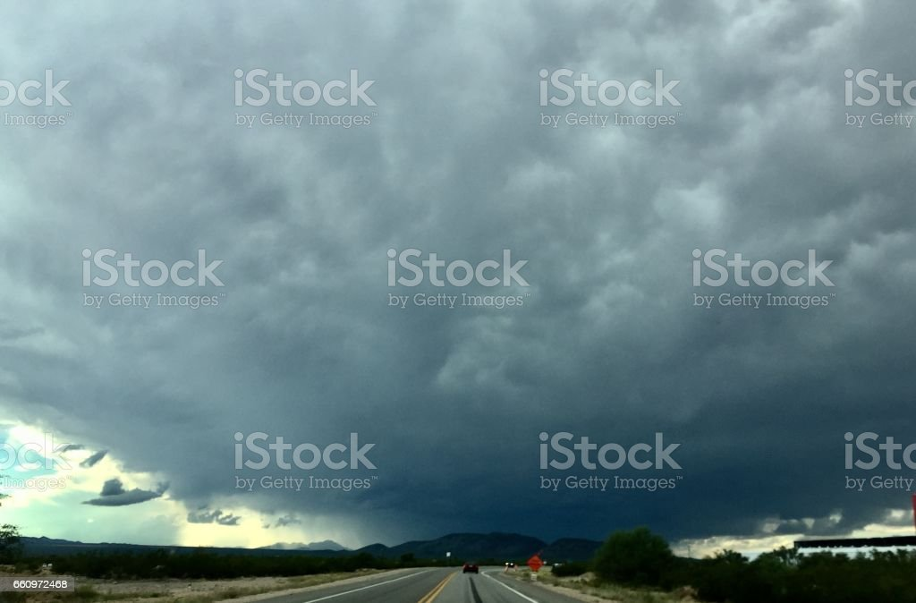 Scary Monsoon Cloud stock photo