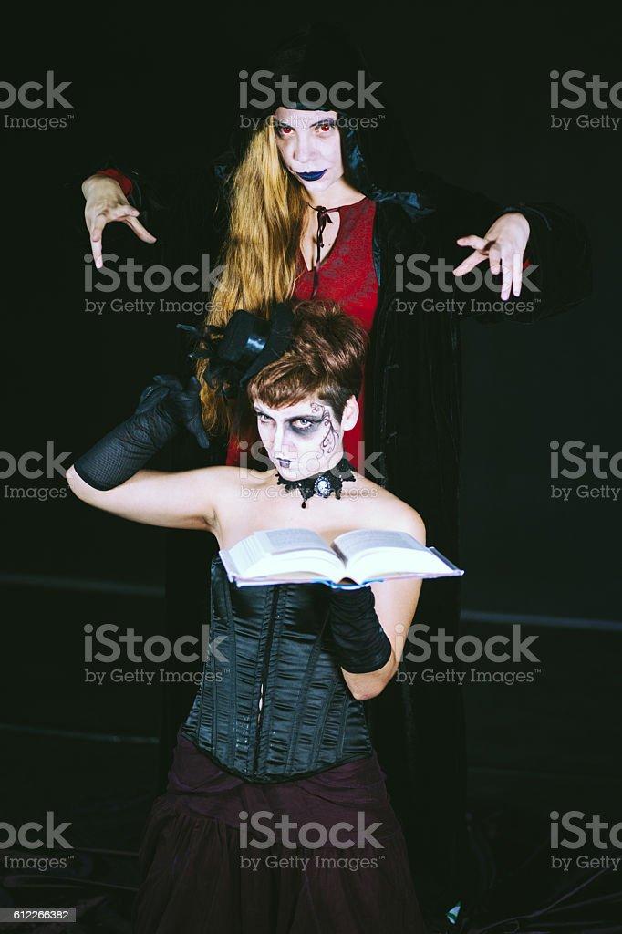 Scary Monster Girls stock photo