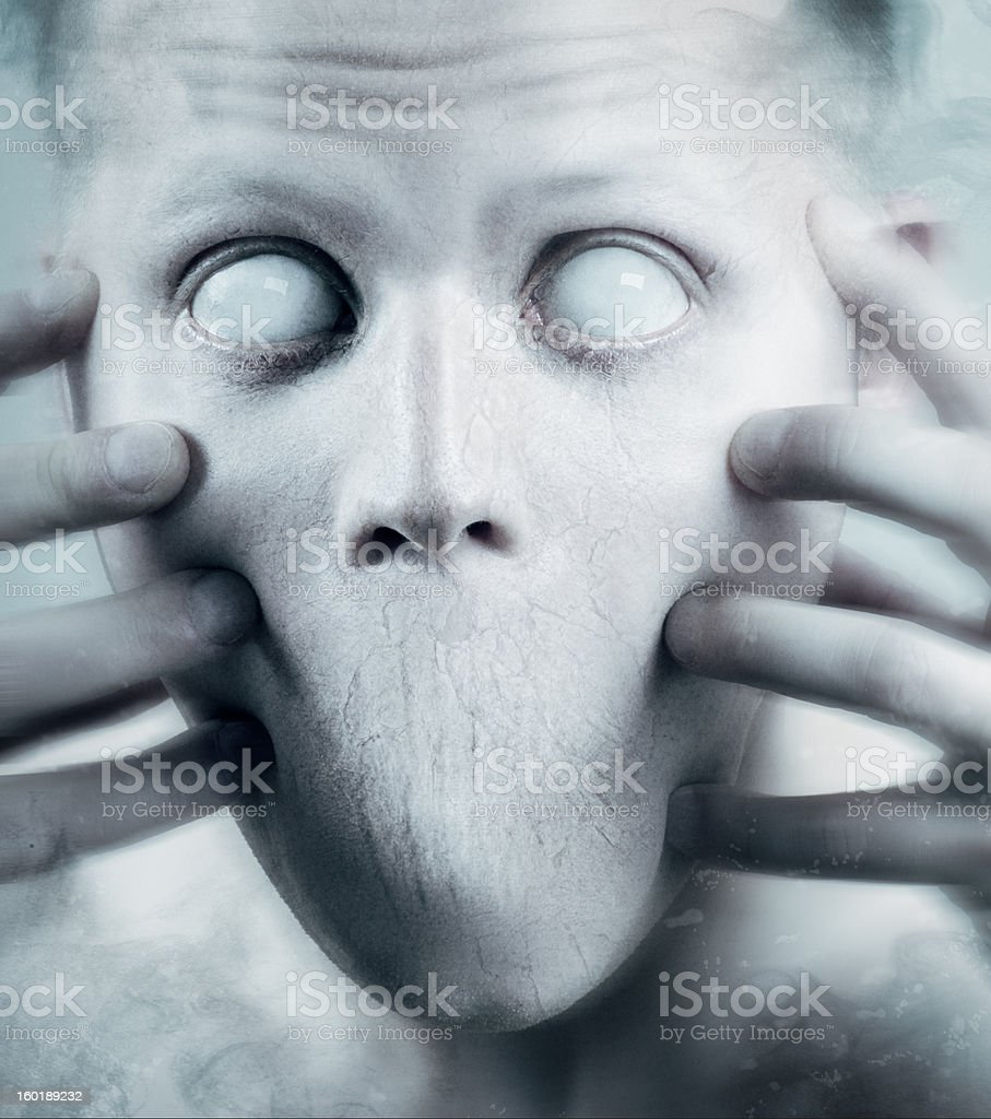 Scary Psychedelic Face stock photo
