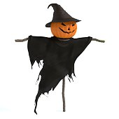 3d illustration of a scary scarecrow