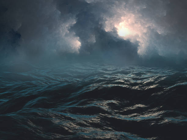 Scary sea Scary sea atmospheric mood stock pictures, royalty-free photos & images