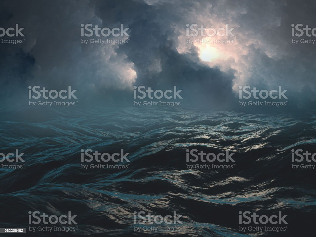Scary sea stock photo