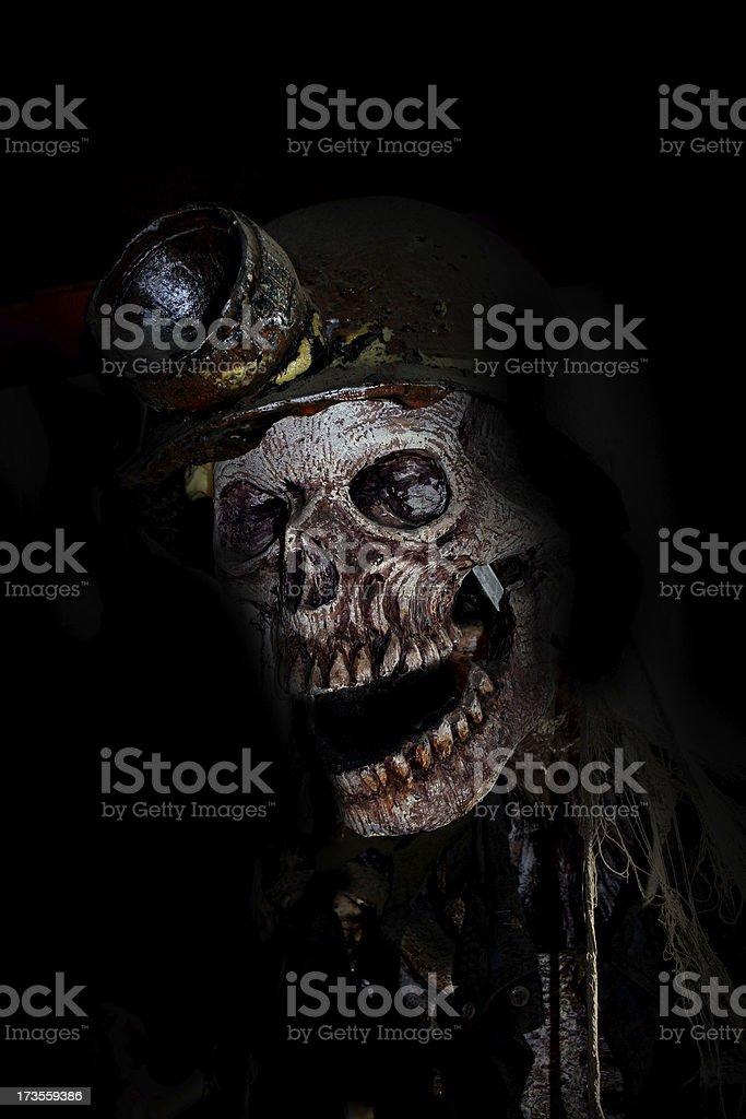 scary skeleton royalty-free stock photo