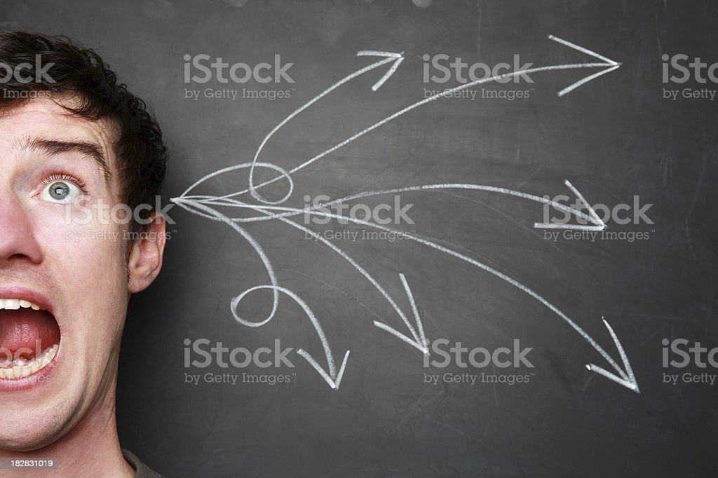 Scary thoughts royalty-free stock photo