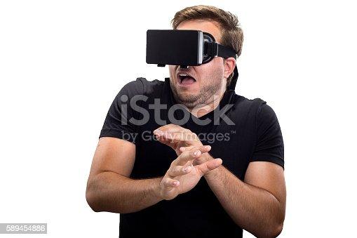 istock Scary Virtual Reality 589454886