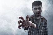 istock Scary zombie hand 1041201462