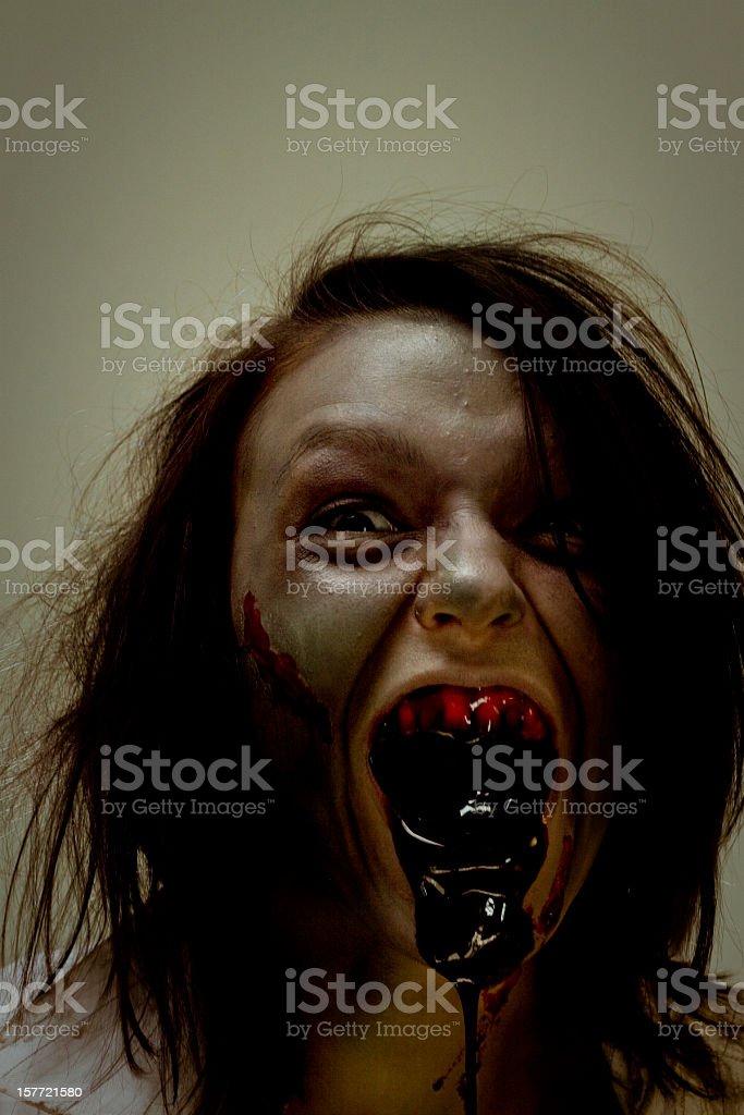 scary zombie stock photo