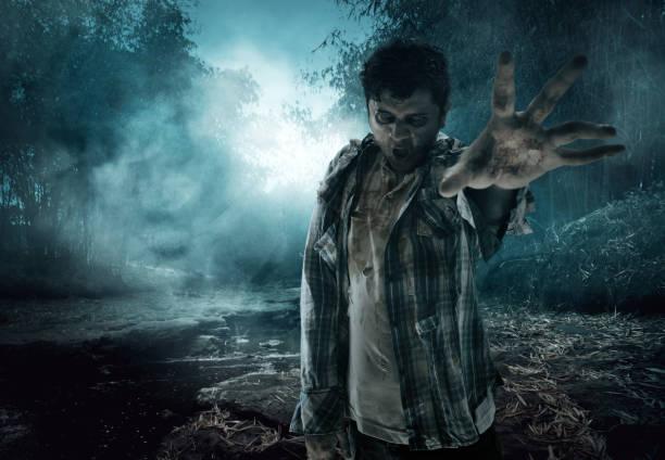 scary zombie - zombie apocalypse stock photos and pictures