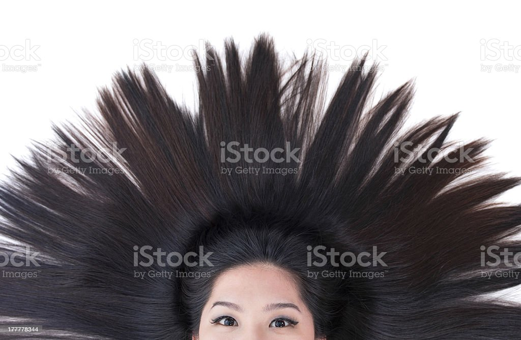 Scatter hair royalty-free stock photo