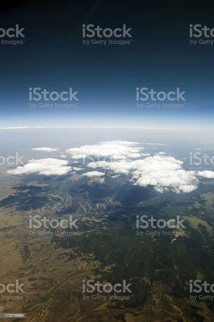 Scatterd clouds. royalty-free stock photo