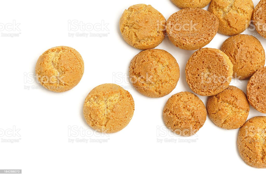 Scattered Amaretti biscuit stock photo