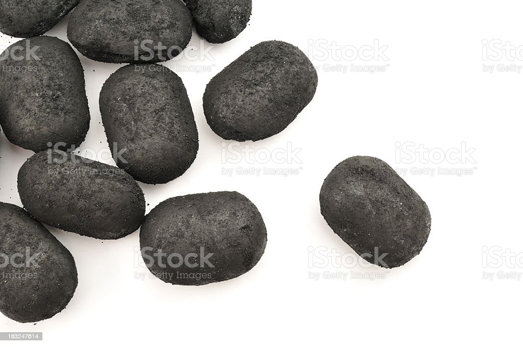 Scattered Anthracite stock photo