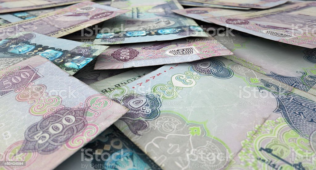 Scattered Banknote Pile stock photo