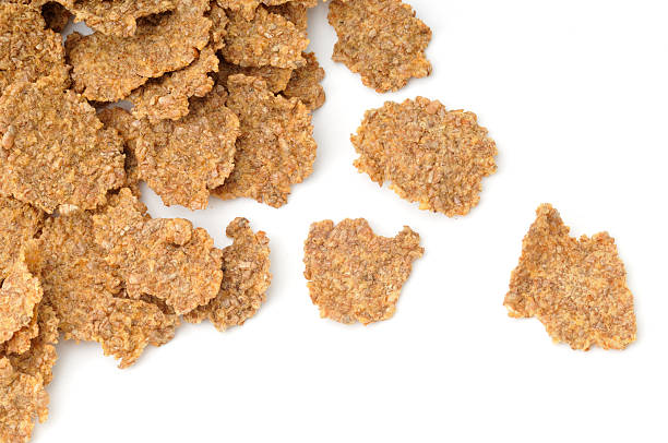 Scattered Bran Flakes stock photo