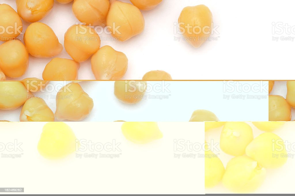 Scattered Chick Peas royalty-free stock photo
