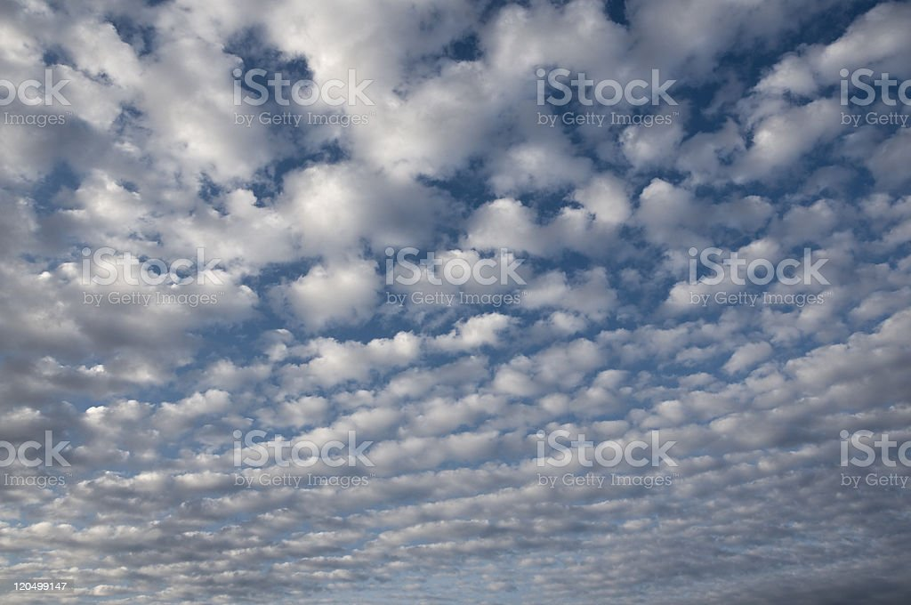 Scattered clouds royalty-free stock photo