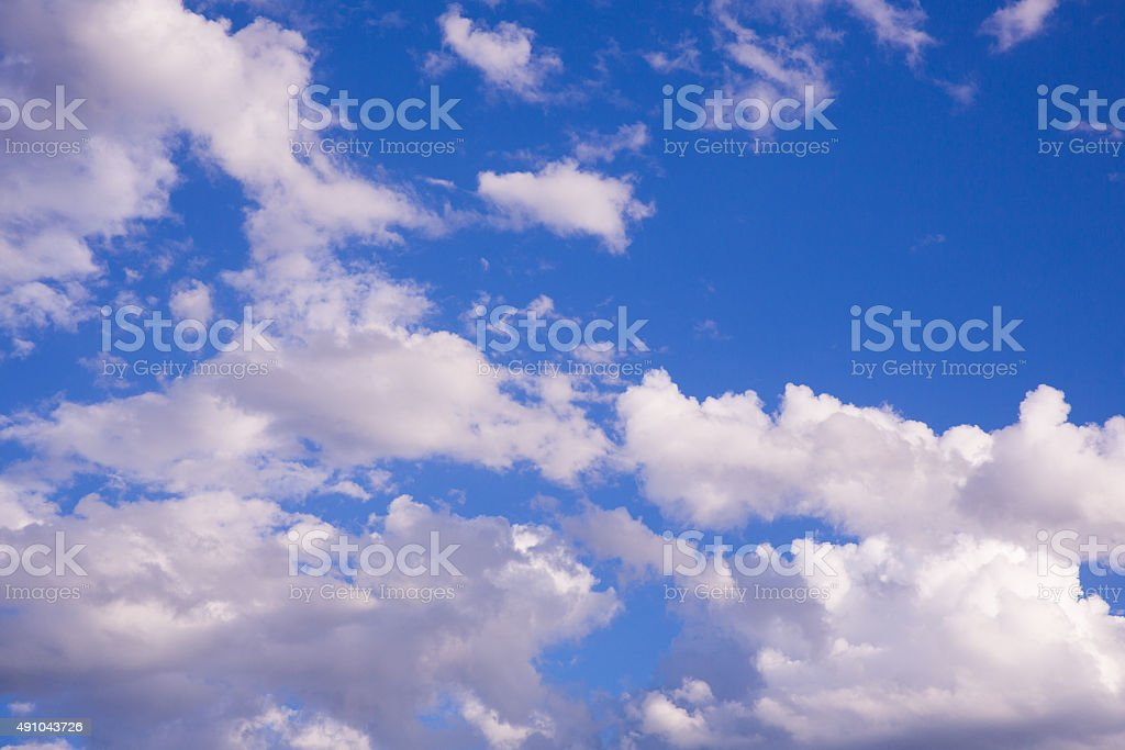 Scattered Clouds stock photo