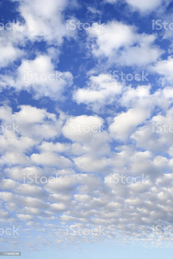 scattered clouds sky background stock photo