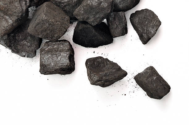 Scattered Coal stock photo