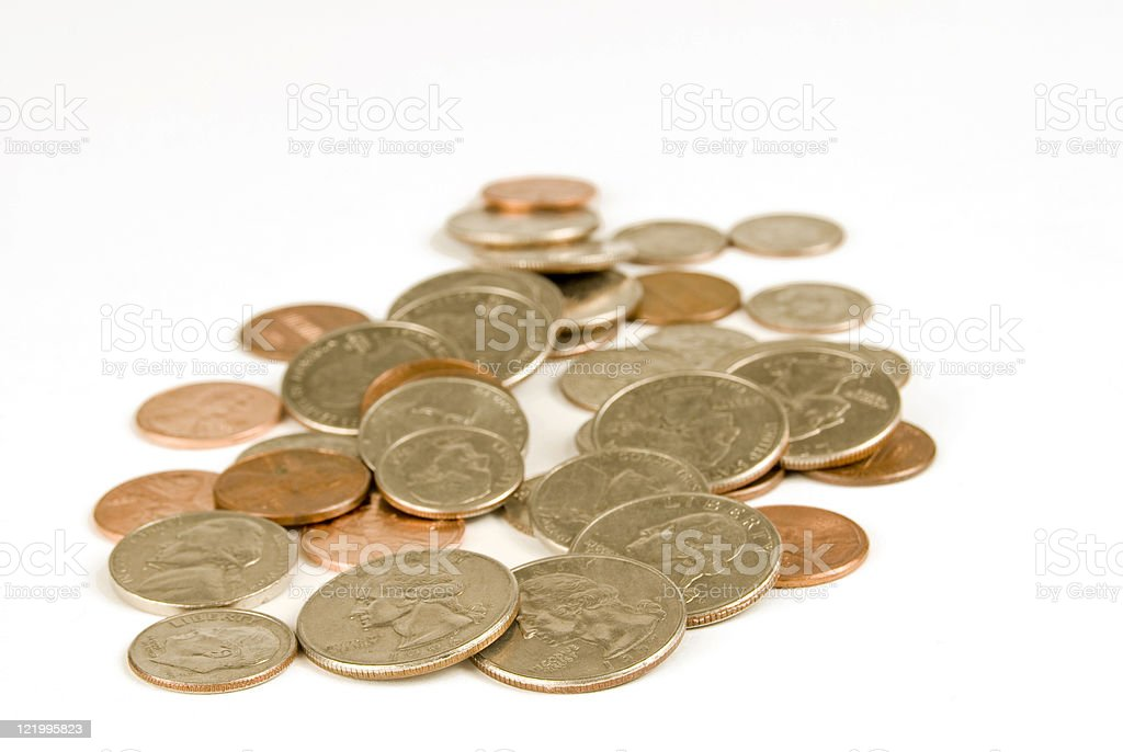Scattered Coins Stock Photo & More Pictures of Close-up - iStock