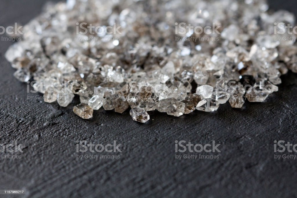 Scattered Diamonds On A Black Background Raw Diamonds And Mining A Scattering Of Natural Diamond Stones Graphite Quartz Natural Stones And Minerals Copy Space For Your Text Stock Photo Download Image