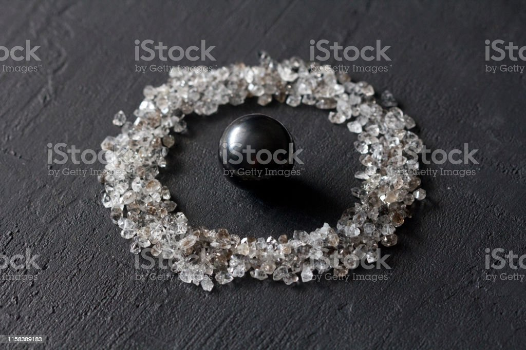 Scattered Diamonds On A Black Background Raw Diamonds And Mining A Scattering Of Natural Diamond Stones Graphite Quartz Natural Stones And Minerals Stone Magnetite Attraction Black Hole Stock Photo Download Image