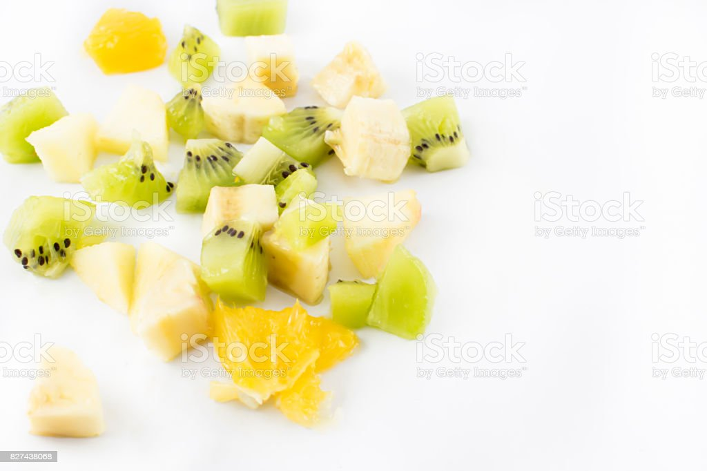 Scattered fruit. stock photo