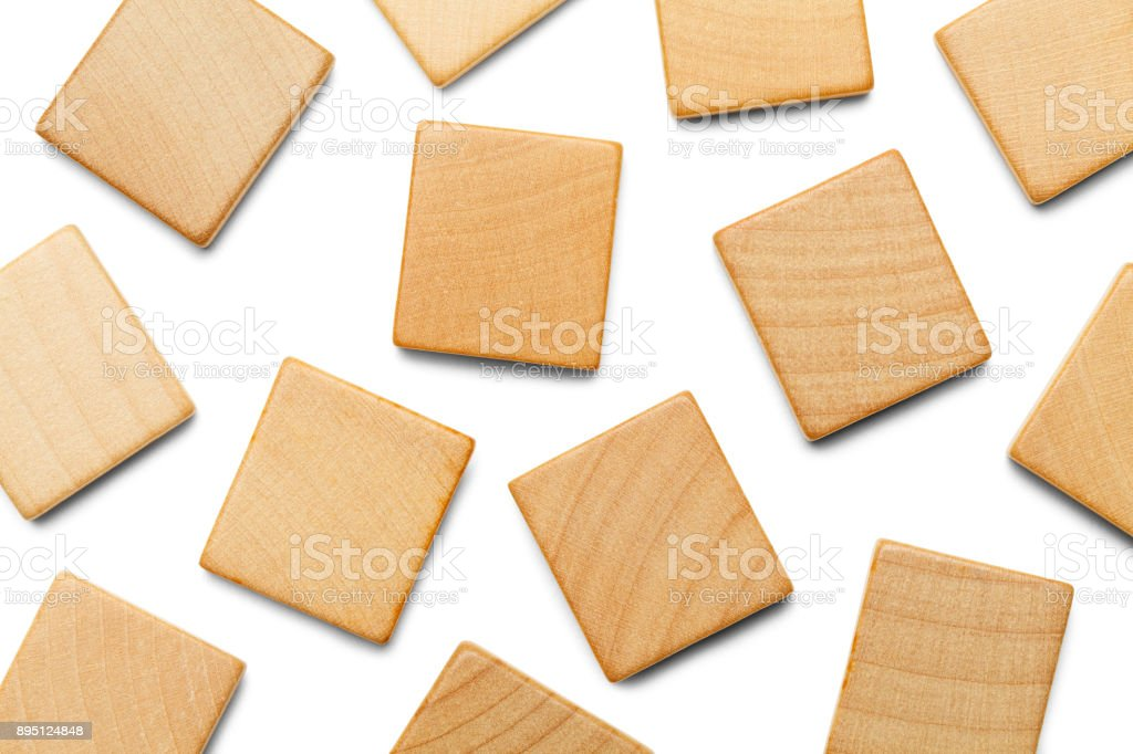 Scattered Game Tiles stock photo