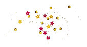 istock Scattered golden seqines and stars 1147930099