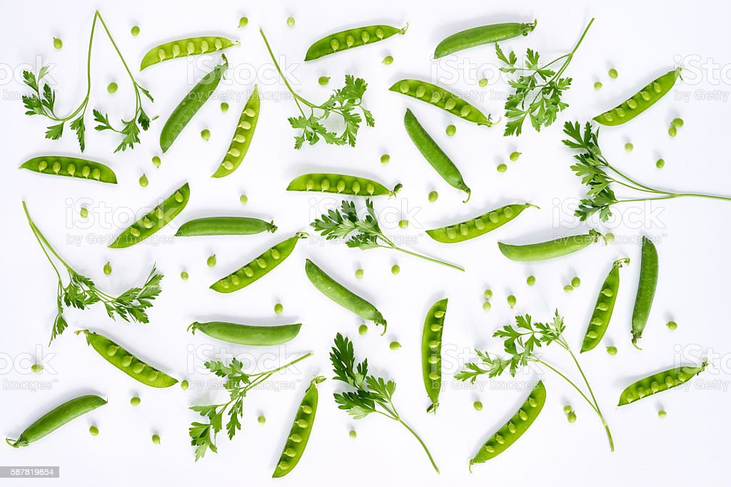 Scattered green food stock photo