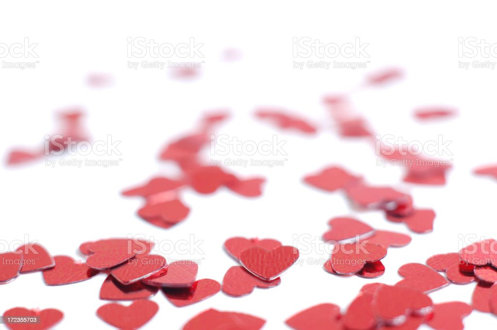 Scattered hearts royalty-free stock photo