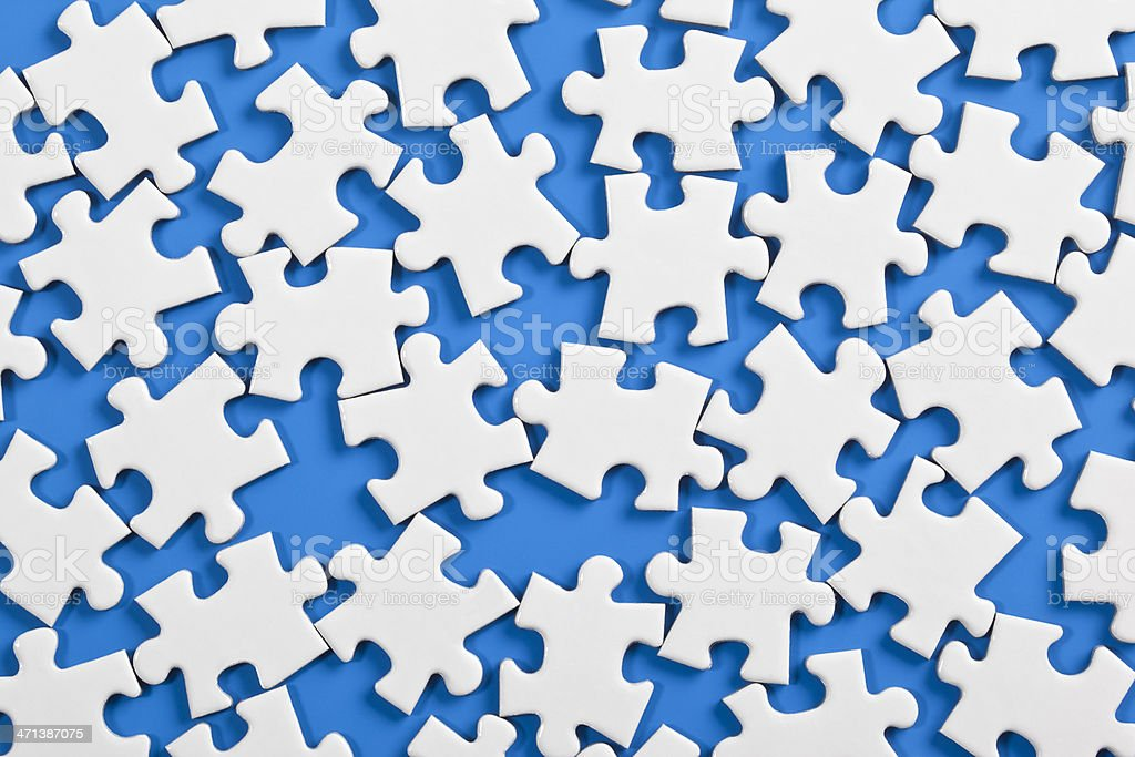 scattered jigsaw puzzle royalty-free stock photo