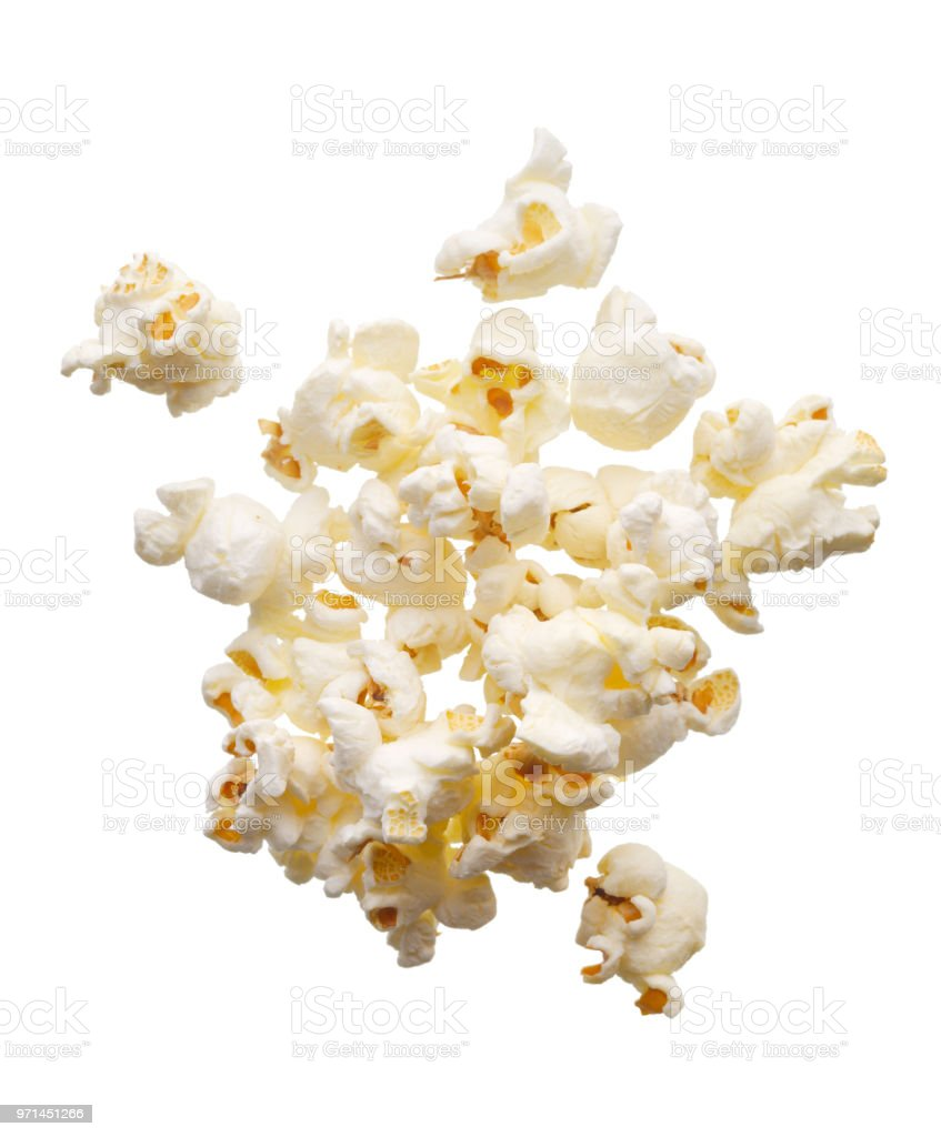 Scattered popcorn stock photo