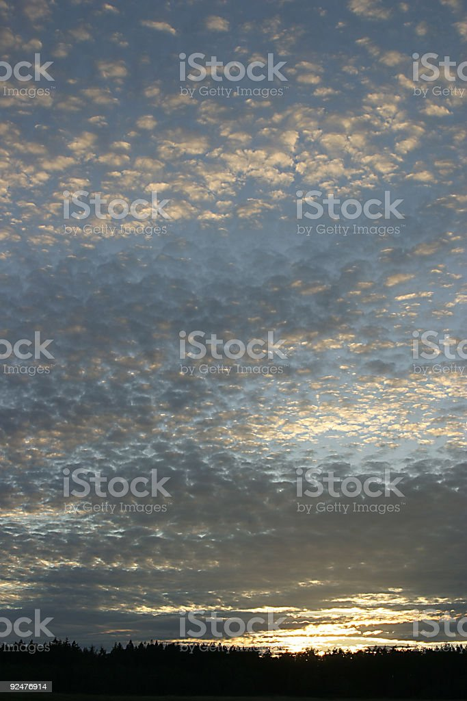 Scattered Sky 3 royalty-free stock photo