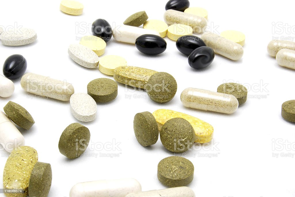 Scattering of Pills royalty-free stock photo